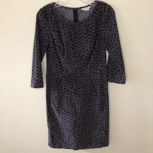 Boden Cotton Purple & Black Heart Pattern Dress 4